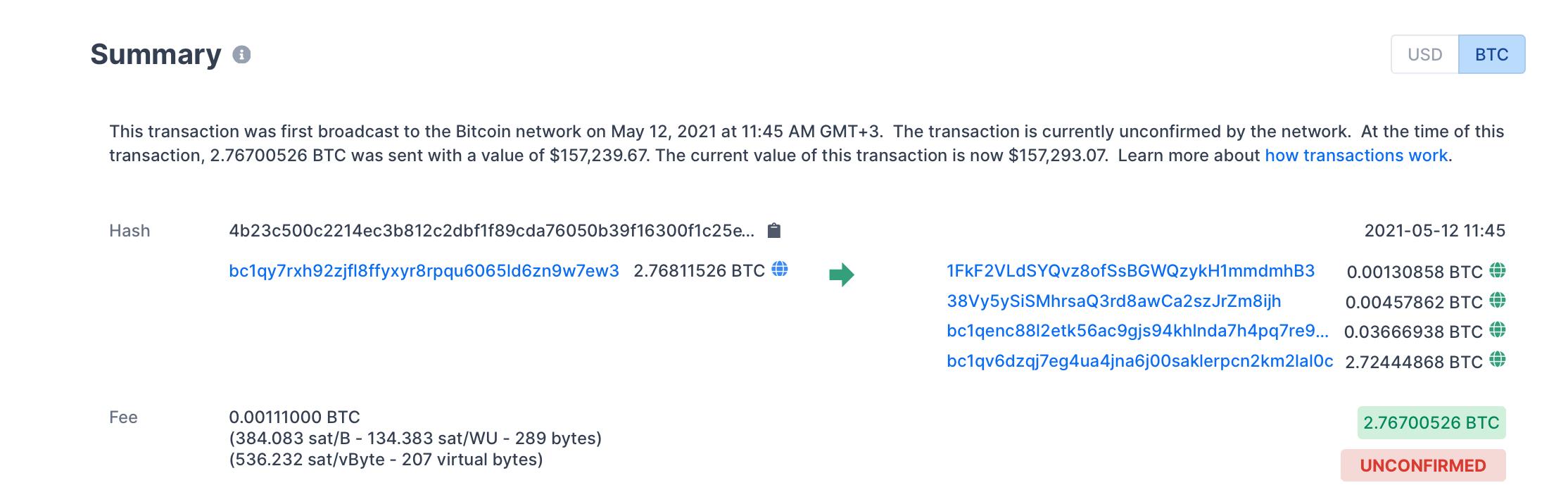 биткоин транзакция перевод